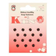 Drukkers opnaaibaar 6 mm zwart (15 stuks op kaart)