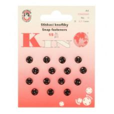 Drukkers opnaaibaar 7 mm zwart (15 stuks op kaart)