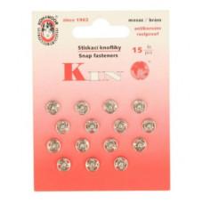Drukkers opnaaibaar 8 mm nikkel (15 stuks op kaart)
