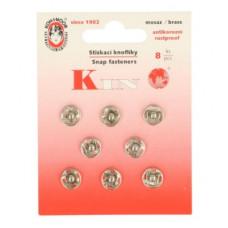 Drukkers opnaaibaar 10 mm nikkel (8 stuks op kaart)