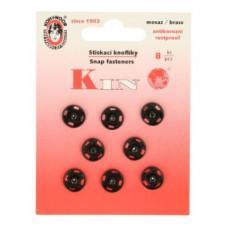 Drukkers opnaaibaar 10 mm zwart (8 stuks op kaart)