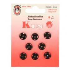Drukkers opnaaibaar 11mm zwart (8 stuks op kaart)