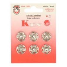 Drukkers opnaaibaar 14 mm nikkel (6 stuks op kaart)