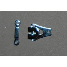 Broekhaken en ogen, nikkel, 20 mm (per set)