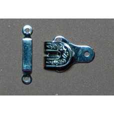 Broekhaken en ogen, nikkel, 25 mm (per set)