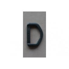D-ringen 25 mm zwart, nylon (per stuk)