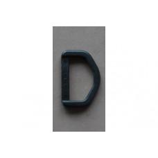 D-ringen 30 mm zwart, nylon (per stuk)