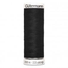 Gütermann naaigaren 200m kleur 000 - zwart