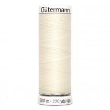 Gütermann naaigaren 200m kleur 001 - wit (ivoor)