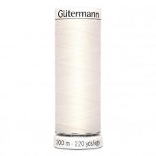 Gütermann naaigaren 200m kleur 111 - wit (gebroken)