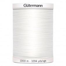 Gütermann naaigaren 1000m kleur 800 - wit