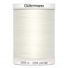 Gütermann naaigaren 1000m kleur 111 - gebroken wit