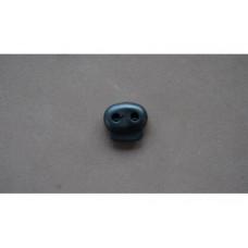Koordstopper 2-gaats zwart, 18 mm (per stuk)