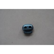 Koordstopper 2-gaats zwart, 23 mm (per stuk)