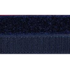 Opnaaibaar klittenband, 20 mm blauw (marine) (per meter)