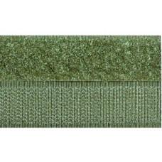 Opnaaibaar klittenband, 20 mm groen (legergroen) (per meter)