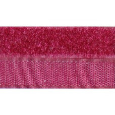 Opnaaibaar klittenband, 20 mm rood (bordeaux) (per meter)