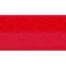 Opnaaibaar klittenband, 20 mm rood (per meter)