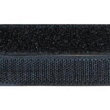 Opnaaibaar klittenband, 20 mm zwart (per meter)