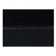 Opnaaibaar klittenband, 30 mm zwart (per meter)