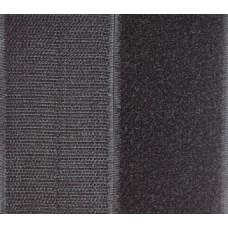 Opnaaibaar klittenband, 50 mm zwart (per meter)