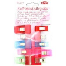Quilting clips 5x 2,7cm en 5x 3,3cm (Opry)