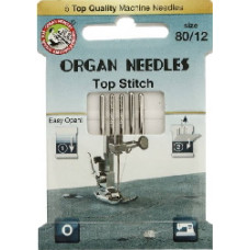 Organ naaimachinenaald Top stitch dikte 80 (ecopack 5 stuks)