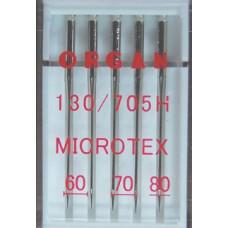 Organ naaimachinenaald microtex 2x 60, 2x 70 en 1x 80