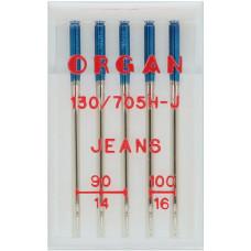 Organ naaimachinenaald Jeans (3x dikte 90 2x dikte 100)