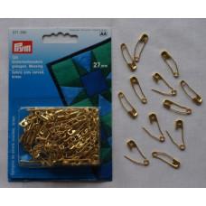 Prym Veiligheidsspelden gebogen, messing, 27 mm