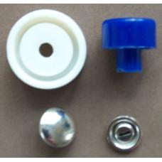 Knopen met stof overtrekbaar, 11 mm, 7 stuks