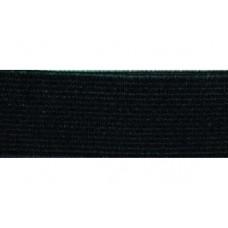 Elastiekband stevig, Tailleband elastiek, 20 mm, zwart (p/m)