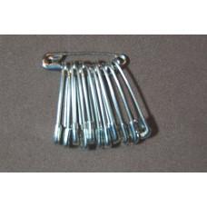 Veiligheidsspelden (nikkelvrij), 22 mm, zilverkleurig, 12 stuks