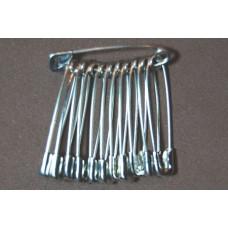Veiligheidsspelden (nikkelvrij), 28 mm, zilverkleurig, 12 stuks