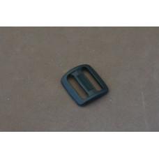 Bruggesp - schuifgesp 20 mm zwart nylon (per stuk)