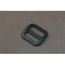 Bruggesp - schuifgesp 25 mm zwart nylon (per stuk)