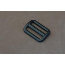 Bruggesp - schuifgesp 30 mm zwart nylon (per stuk)