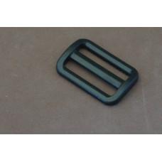 Bruggesp - schuifgesp 40 mm zwart nylon (per stuk)