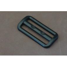 Bruggesp - schuifgesp 50 mm zwart nylon (per stuk)