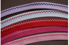 biaisband met geborduurde zigzag