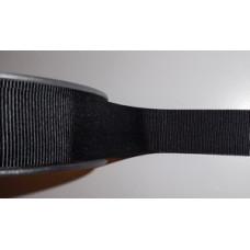 Ribslint 25 mm zwart