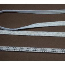 Plat zacht elastiek, elastiek voor mondkapjes 5 mm, wit (p/m)