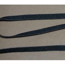 Plat zacht elastiek, elastiek voor mondkapjes 5 mm, zwart (p/m)