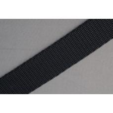 Tassenband - Nylonband, 15mm, zwart, per meter