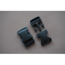 Klikgesp 30 mm zwart, Turbosluiting (per stuk)