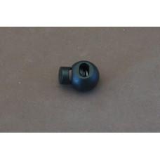 Koordstopper bol zwart, 15 mm (per stuk)