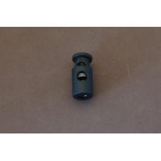 Koordstopper cylinder 1-gaats 25 mm zwart (per stuk)