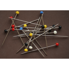 Quiltspelden, Glaskopspelden 48mm x 0.8mm (24 gram)