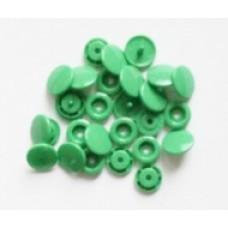 Drukknopen, 12,4 mm, groen, 20 stuks