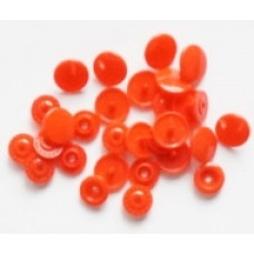Drukknopen, 12,4 mm, rood, 20 stuks